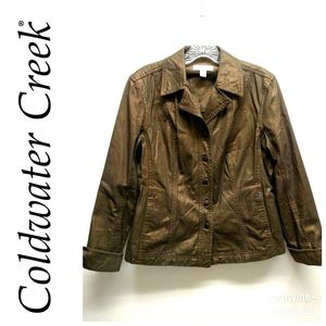 Coldwater Creek-Metallic Copper Jacket-Size 10